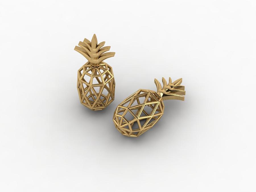 Фото Сережки у вигляді ананасу